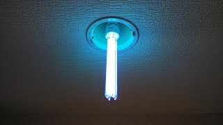 Awesome flesh-burning death lamp.   (Germicidal UV)
