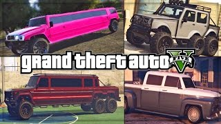GTA 5 DLC Luxury Limo Cars Concept! (ONLINE GAMEPLAY)