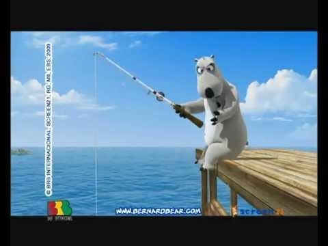 bernard the funny bear fishing youtube