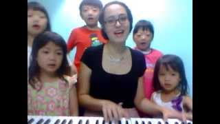 Jingle Bells song with children at Ovation in Malaysia