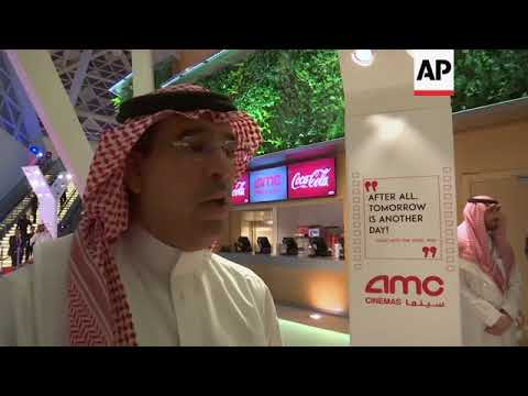 Saudi Arabia plays its first Hollywood film at a movie theater in 35 years at an invitation-only scr