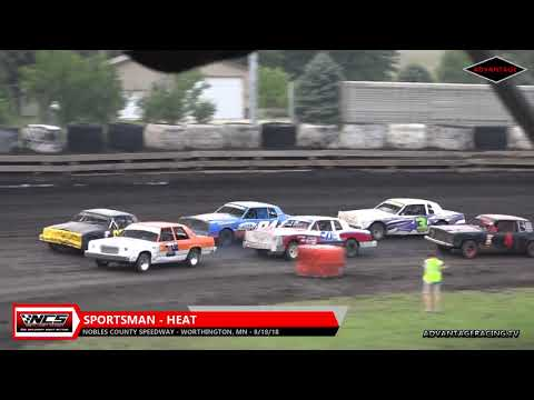 Sportsman Heat/Tuner Heat Feature - Nobles County Speedway - 8/18/18