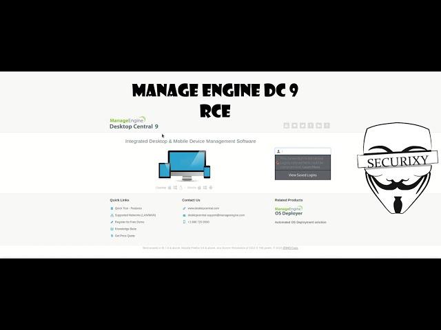 Эксплуатация CVE-2015-8249 на Manage Engine Desktop Central 9 | Metasploitable 3