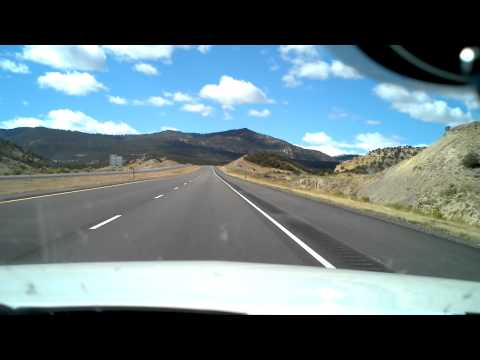 Driving along I-70 Utah towards Vegas
