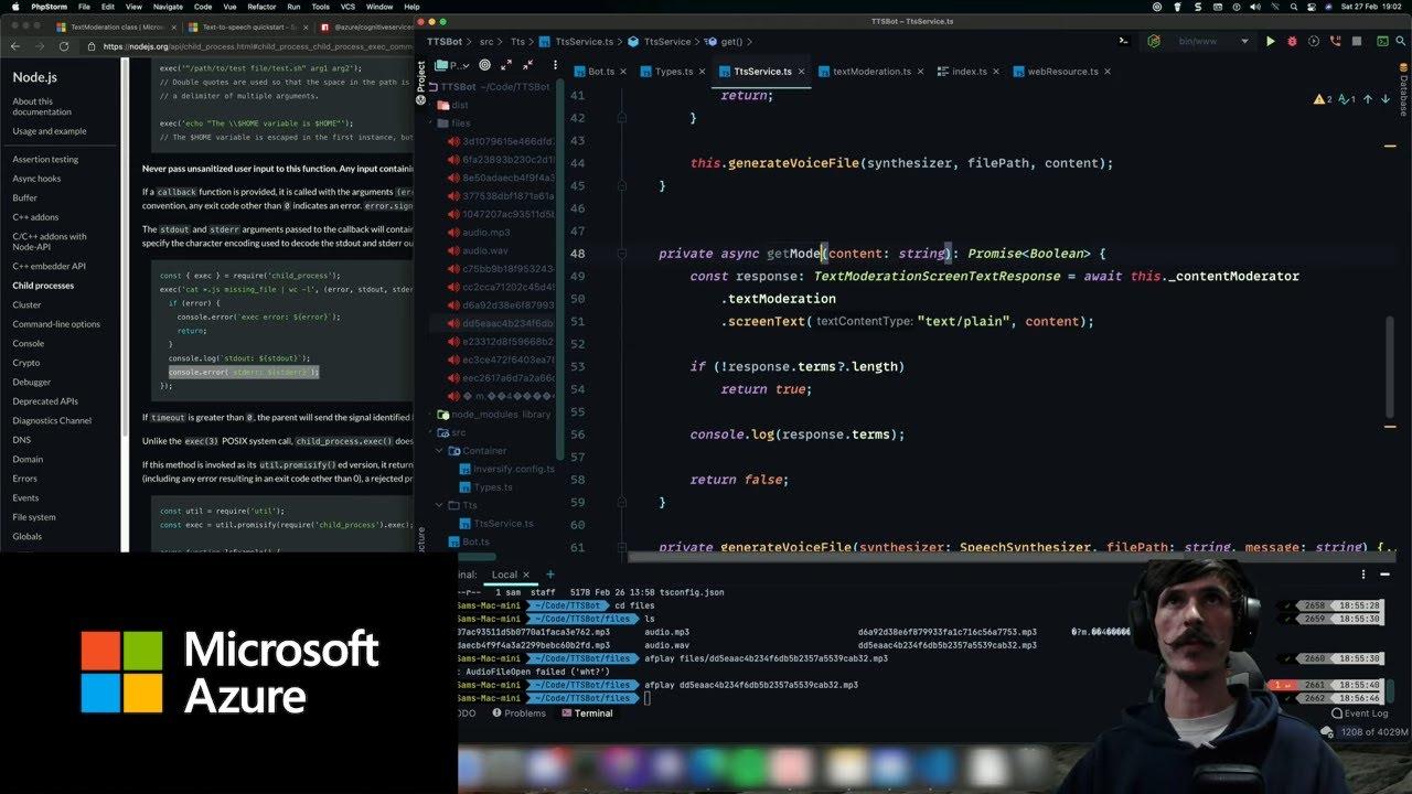 Explore Text-to-Speech and Content Moderation API's | Azure Developer Streams