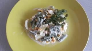 ПП-салат со стручковой фасолью. Идея для ужина. Готовим с дочкой 4 года.