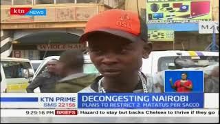 Two matatus per SACCO in Nairobi CBD starting Tuesday, county says