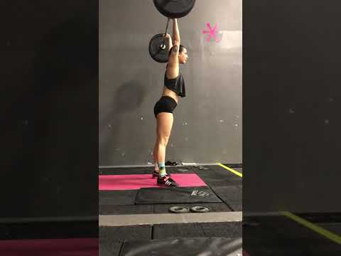 Power clean and jerk 70%x2