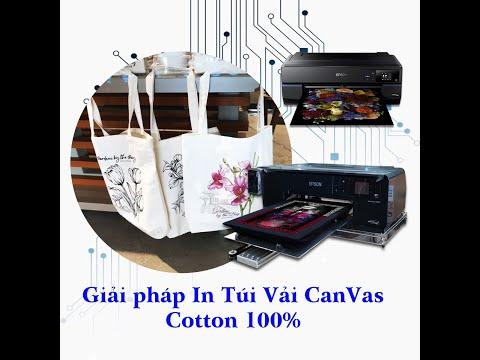 In Túi Vải Canvas Cotton 100%