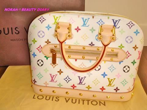 Purse Review 1  Louis Vuitton Multicolor Alma Handbag - YouTube a737c07ea0217