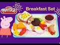 Breakfast set like Play doh / burger hotdog mushroom sandwich playdoh
