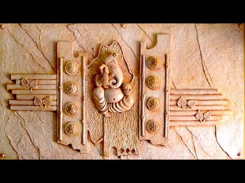Handmade walldecals ganesh wall relief mural art work 2013 for Mural work using m seal