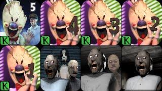 Ice Scream 5 Friends: Mike's Adventures,Ice Scream 4,Ice Scream 3,Ice Scream 2,Ice Scream 1,Granny 3
