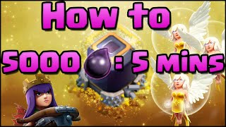 Clash of Clans - How to Make 5000 DE in 5 minutes! | Farming Attack Strategy with Super Queen!