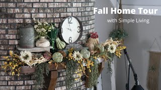 Simple Living Fall Home Tour, lots of great ideas for your fall decorating :)