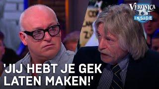 Johan Derksen en René van der Gijp verschillen nogal van mening betreft zwartepietendiscussie