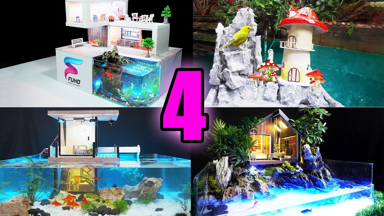 4 Amazing Ideas for Mini House with Aquarium You Can Make at Home