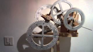 Time Is Flying By!!! Wooden Scroll Saw Gear Clock Project, Spin Trial
