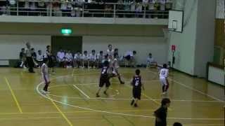 2012 福山市春季総体中学バスケ決勝 松永vs鷹取 2