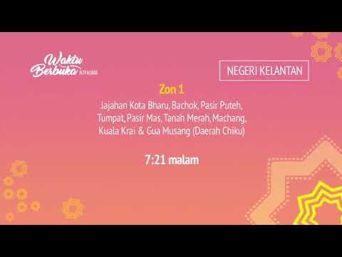 Ramalan waktu berbuka puasa TV3/TV9 (2018/1439H)
