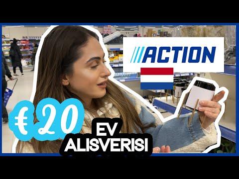 HOLLANDA'DA€20'LUK DEV EV ALİŞVERİŞİ! (ACTION)CHALLENGE