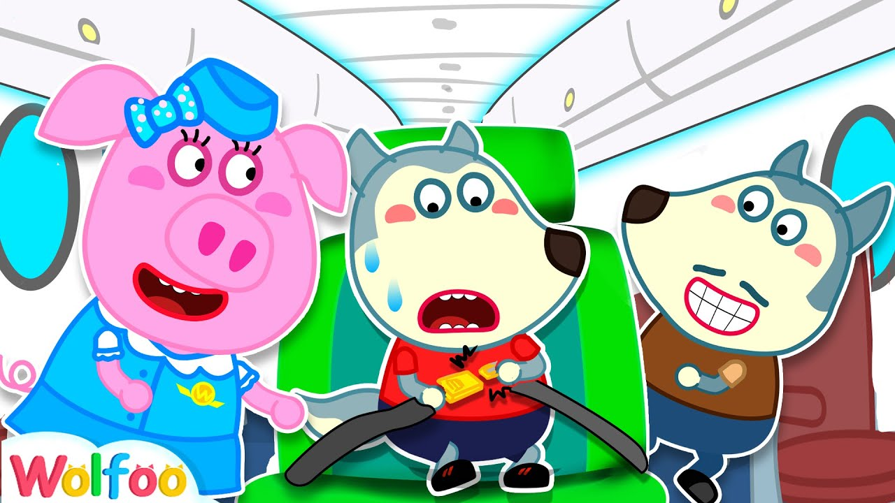 Wear Your Seatbelt on the Airplane - Wolfoo Learns Safety Tips for Kids | Wolfoo Family Kids Cartoon
