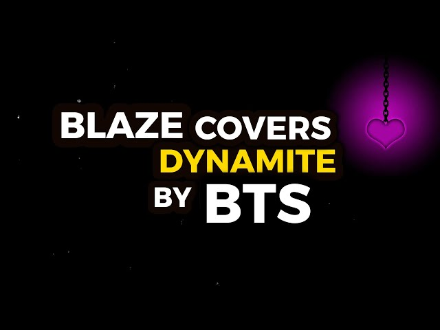 BLAZE Covers Dynamite by BTS!!! (DYNAMITE RAP COVER)