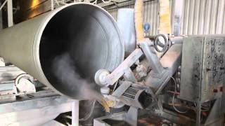 видео: Flowtite plastic pipes production in Astana (Amiantit factory)