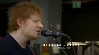 紅髮艾德Ed Sheeran - Thinking Out Loud (Live at joiz) 中文字幕