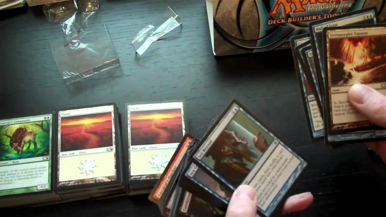 how to make a magic the gathering deck