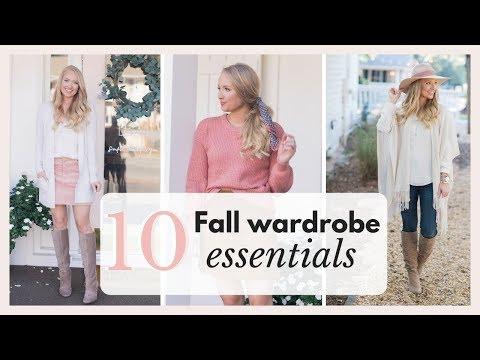 10 Fall Wardrobe Essentials 2018 Fall Outfits | Amanda John