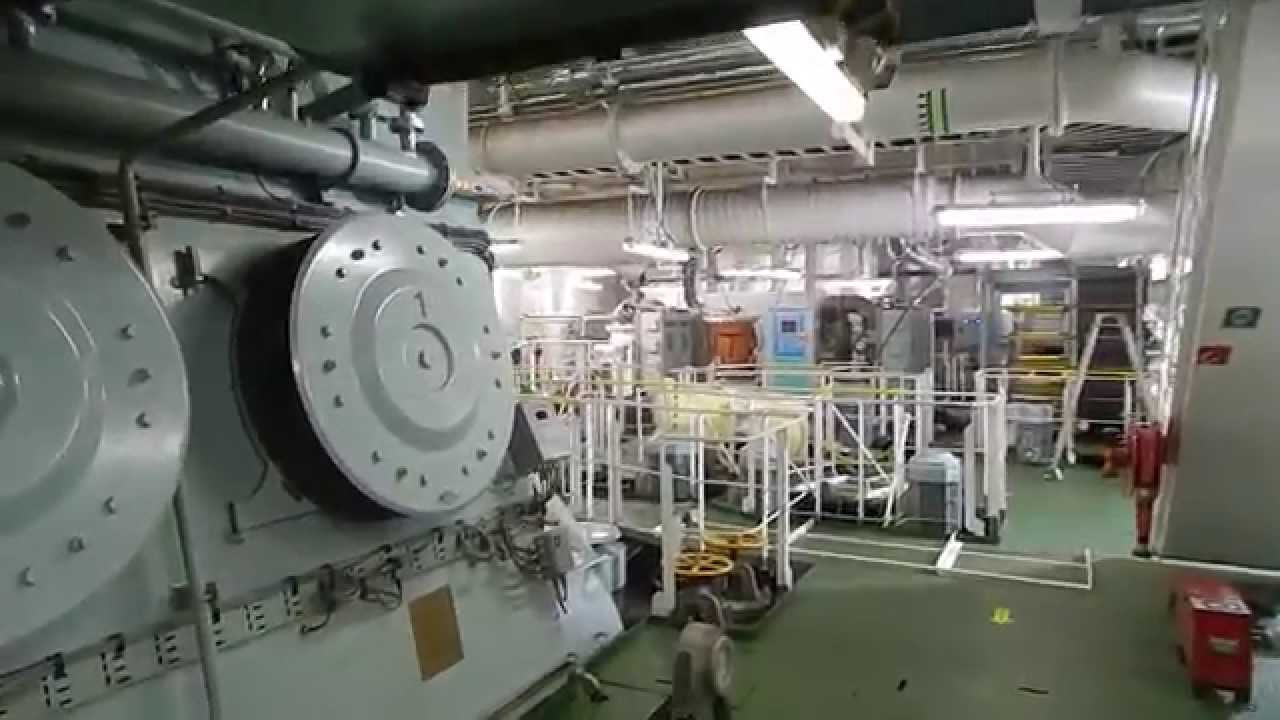 Container Ship Engine Room YouTube - Largest cruise ship engines