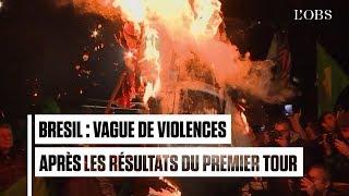 Brésil : vague de violences après le succès de Bolsonaro au premier tour de l