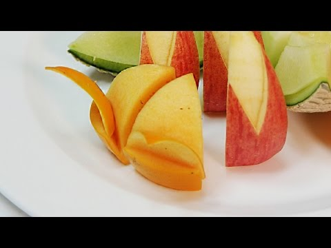 Fruit decoration [ persimmon ] : 과일예쁘게 깎는법 ,