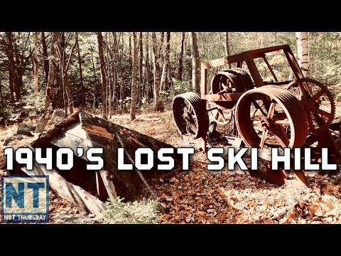 Lost ski hill search & find in New Hampshire - Old rope tow and lift -Not Thursdy #85 Abandoned Ski