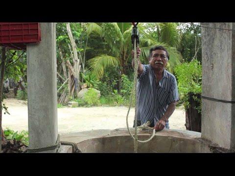 como sacar agua de un pozo