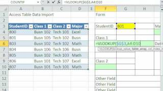 Excel Magic Trick 571: VLOOKUP To Create Form from Access Linked Data Import
