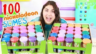 I GOT 100 NICKELODEON SLIMES AND MIXED THEM ALL! Slimeatory #451