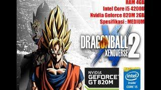 Test GAME Dragonball Xenoverse 2 di Nvidia GT820M