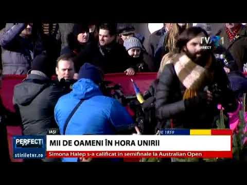 Hora Unirii la Iași, Familia Regală alături de mii de români