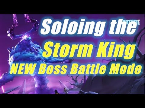 Soloing the Storm King / Fortnite Save the World