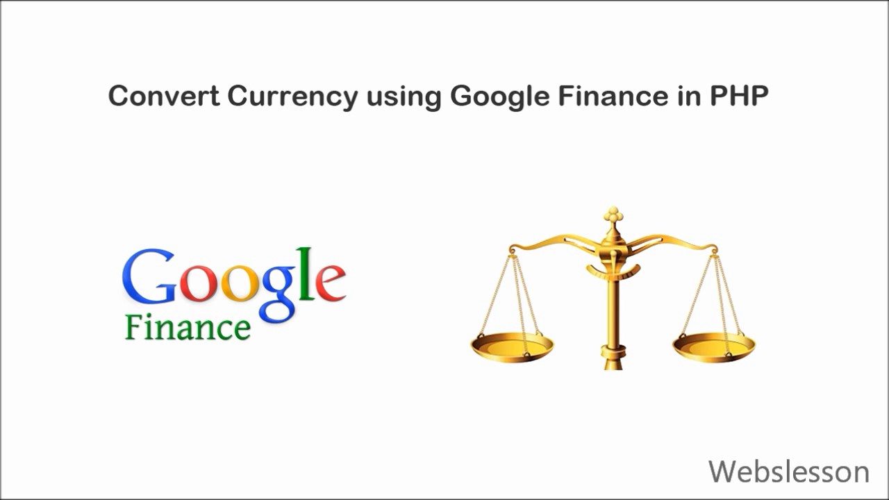 Convert Currency using Google Finance in PHP
