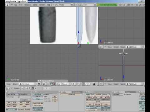 how to make a sword in blender
