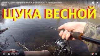 Ловля щуки на спиннинг весной. Рыбалка 2017. Разведка боем.