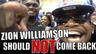 Zion Williamson Should NOT Play This Year