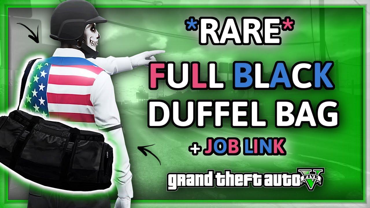 GTA5 Online I *RARE* Jet Black Duffel Bag Glitch! (MALE + FEMALE) Patch 1.50! (PS4 Only)