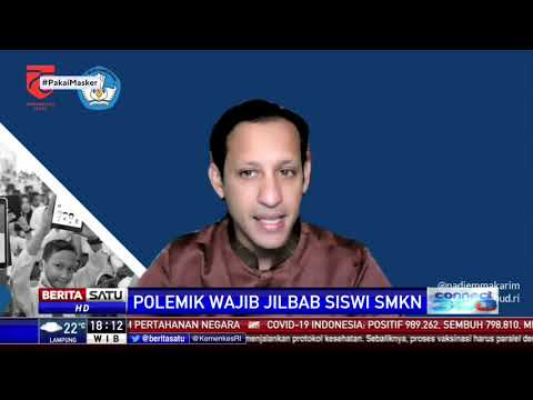 Nadiem Angkat Bicara Soal Polemik Wajib Jilbab Siswi SMKN
