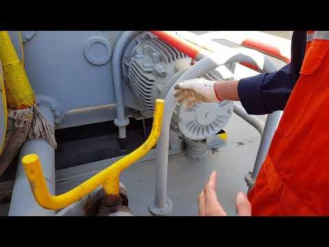 선미 라인 작업 무어링 윈치 사용 영상 mooring winch operation for Navigation officer1Container vessel