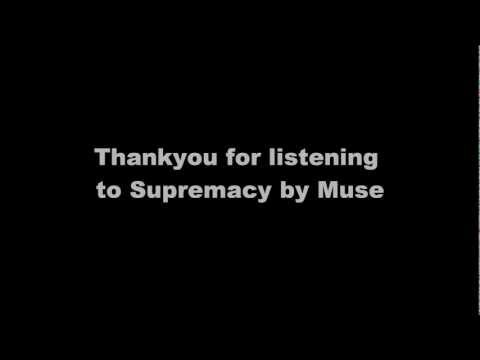 Muse - Supremacy Lyrics
