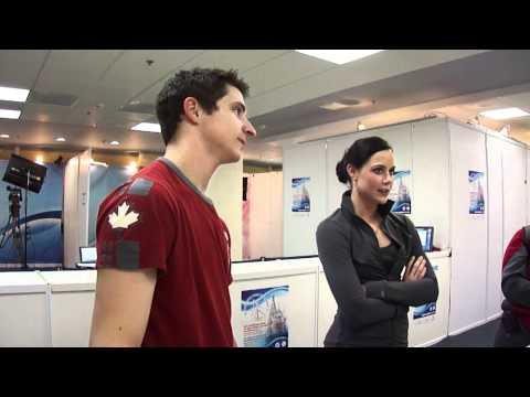 2011 Worlds: Tessa Virtue, Scott Moir interview